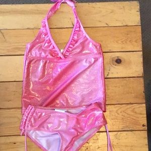Other - Girls 6/6x pink sparkly swim suit